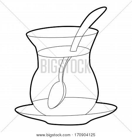 Cold tea icon. Outline illustration of cold tea vector icon for web