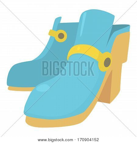 Two boots icon. Cartoon illustration of two boots vector icon for web