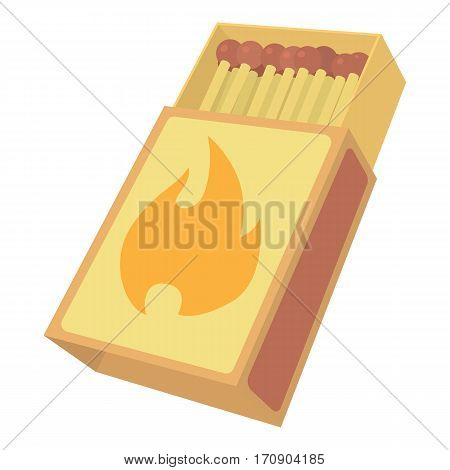 Box matches icon. Cartoon illustration of box matches vector icon for web