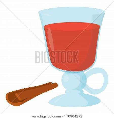Mulled wine icon. Cartoon illustration of mulled wine vector icon for web