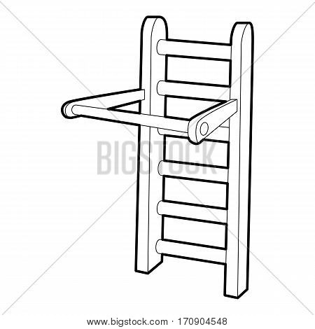 Horizontal bar icon. Outline illustration of horizontal bar vector icon for web