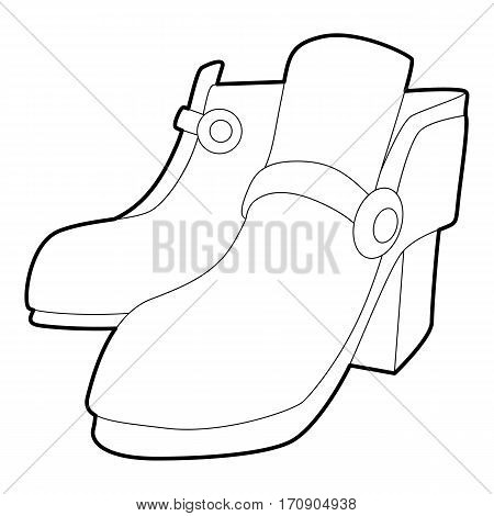 Two boots icon. Outline illustration of two boots vector icon for web