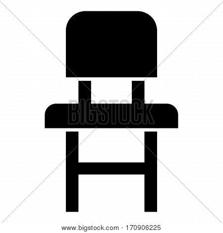 Children chair icon. Simple illustration of children chair vector icon for web