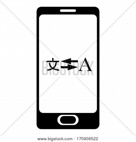 Phone translation icon. Simple illustration of phone translation vector icon for web