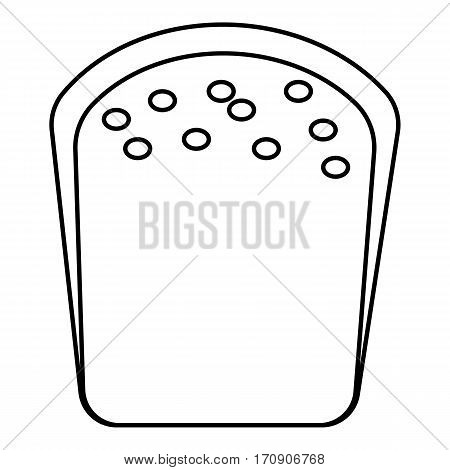 Bread icon. Outline illustration of bread vector icon for web
