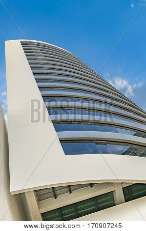 Modern Building Exterior Low Angle View, Guayaquil
