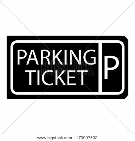 Parking ticket icon. Simple illustration of parking ticket vector icon for web