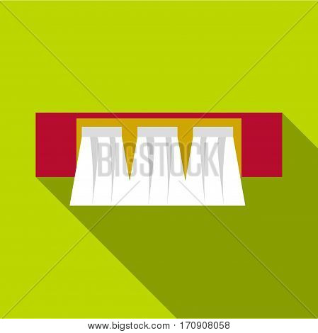 Power station icon. Flat illustration of power station vector icon for web