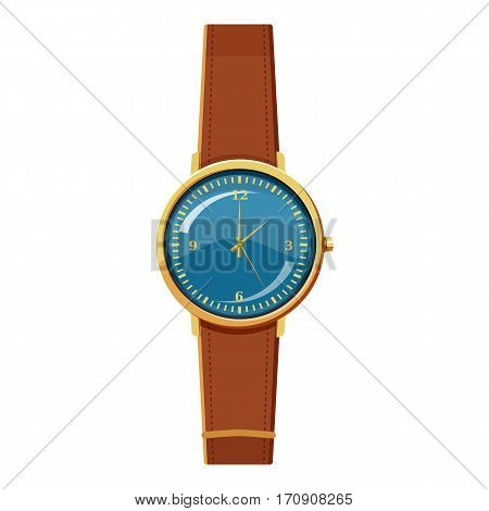 Wristwatch icon. Cartoon illustration of wristwatch vector icon for web