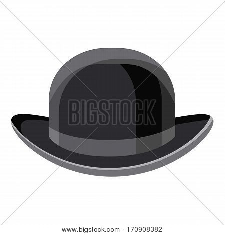 Black hat icon. Cartoon illustration of black hat vector icon for web