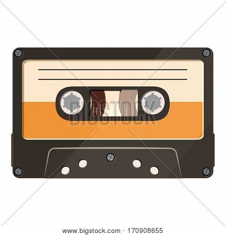 Cassette icon. Cartoon illustration of cassette vector icon for web