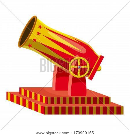 Circus cannon icon. Cartoon illustration of circus cannon vector icon for web