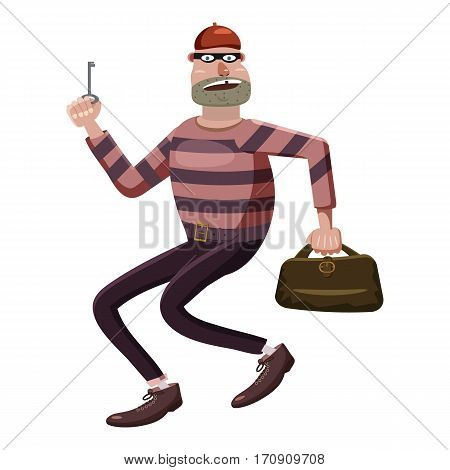 Robber icon. Cartoon illustration of robber vector icon for web