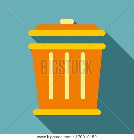 Bin icon. Flat illustration of bin vector icon for web
