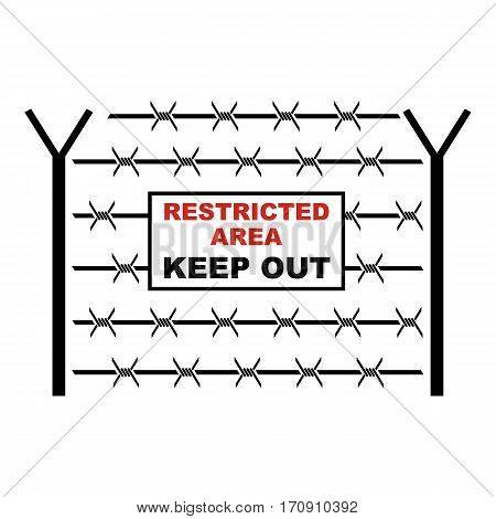 Restricted area icon. Cartoon illustration of restricted area vector icon for web