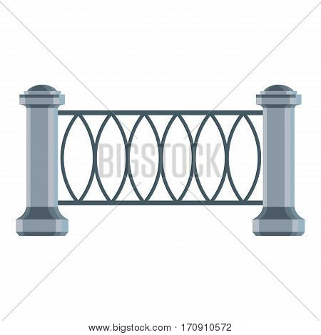 Park fence icon. Cartoon illustration of park fence vector icon for web