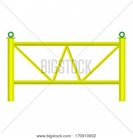 Yard fence icon. Cartoon illustration of yard fence vector icon for web