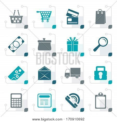 Stylized Online shop icons - vector  icon set