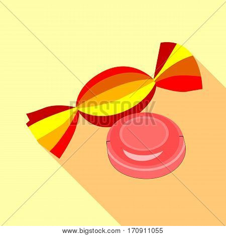 Two candies icon. Flat illustration of two candies vector icon for web