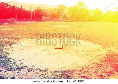 Image of view of softball field background