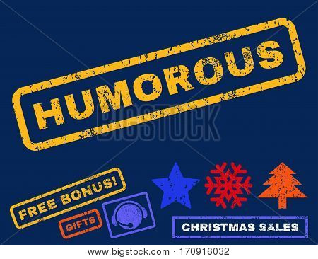 Humorous text rubber seal stamp watermark with bonus christmas symbols. Tag inside rectangular shape with grunge design and scratched texture.