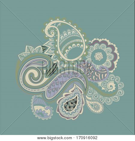 Bright Abstract wallpaper vintage flower pattern illustration