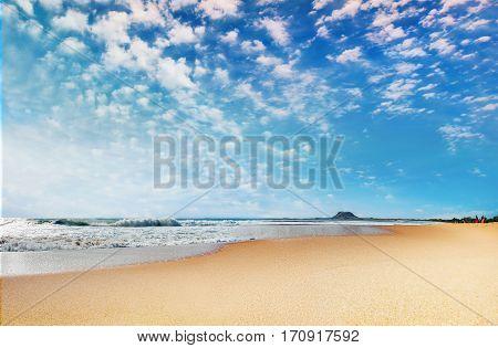 Beautiful panoramic seashore in Sri Lanka .