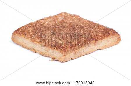 Rhombus shape cookie isolated on white background