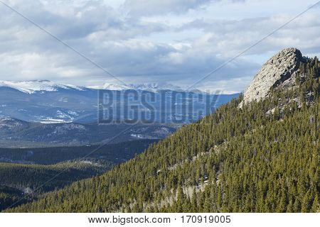 Colorado Rocky Mountain Continental Divide Landscape View