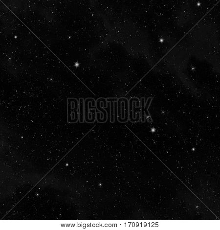 Stars in the clear night sky