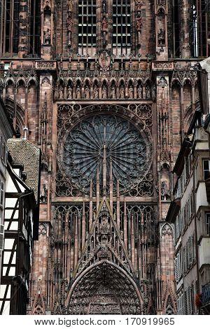 Strasbourg France - july 22 2016 : the Notre Dame cathedral