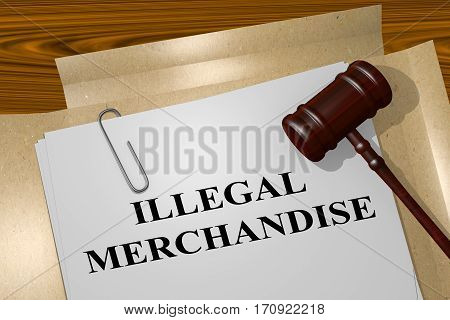 Illegal Merchandise - Legal Concept