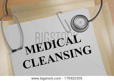 Medical Cleansing - Medical Concept