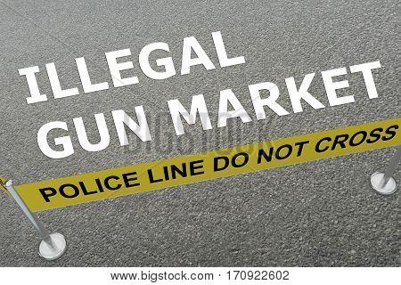 Illegal Gun Market Concept