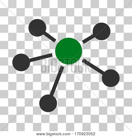 Connections icon. Vector illustration style is flat iconic bicolor symbol green and gray colors transparent background. Designed for web and software interfaces.