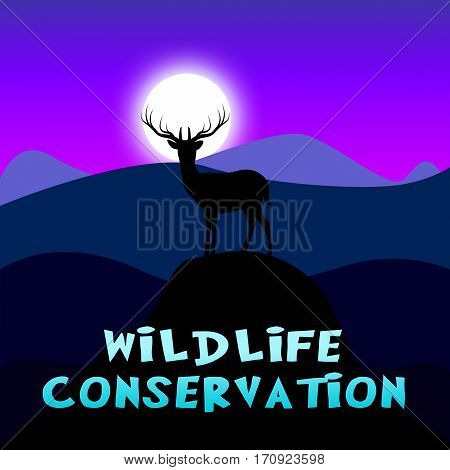 Wildlife Conservation Showing Animal Preservation 3D Illustration