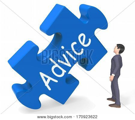 Advice Shows Support Help And Assistance 3D Rendering