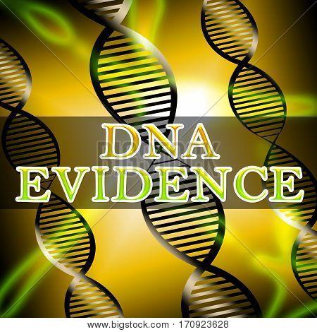 Dna Evidence Shows Genetic Proof 3D Illustration