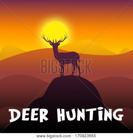 Deer Hunting Shows Hunt Tour 3D Illustration