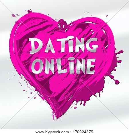 Dating Online Indicating Sweethearts Romance 3D Illustration