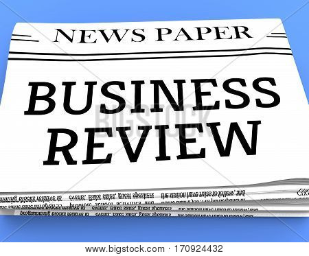 Business Review Shows Trade Reviews 3D Rendering