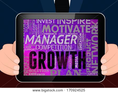 Growth Words Indicate Improvement Growing 3D Illustration