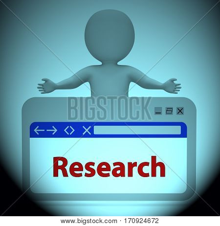 Research Webpage Meaning Gathering Data 3D Rendering