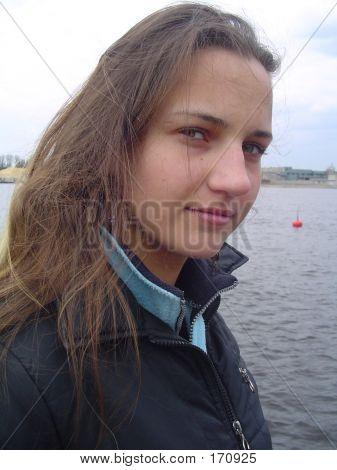 Girl, Looking Into Camera