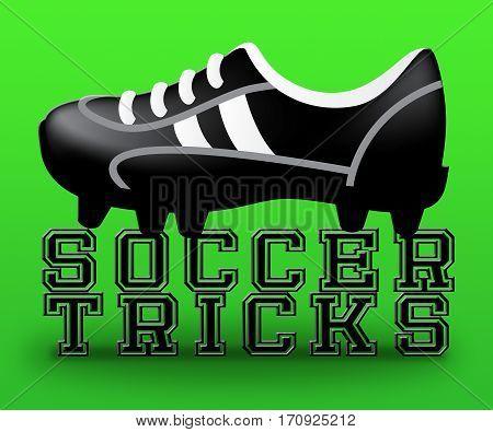 Soccer Tricks Showing Football Feats 3D Illustration