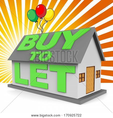 Buy To Let Meaning Landlord Buying 3D Rendering