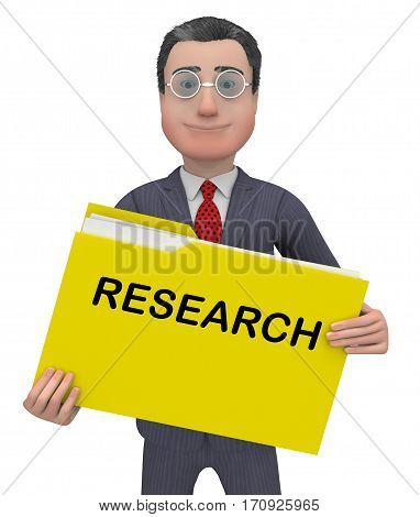 Research Folder Meaning Gathering Data 3D Rendering