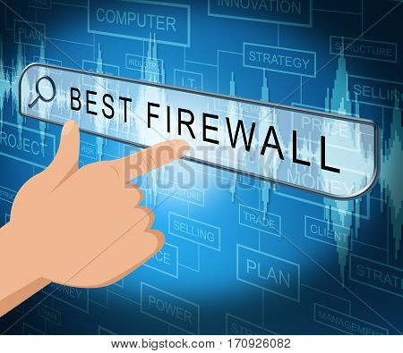 Best Firewall Shows Top Security 3D Illustration