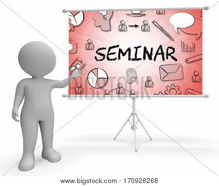 Seminar Icons Represents Symbols Forum 3D Rendering