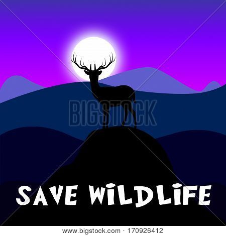 Save Wildlife Shows Preserve Animals 3D Illustration
